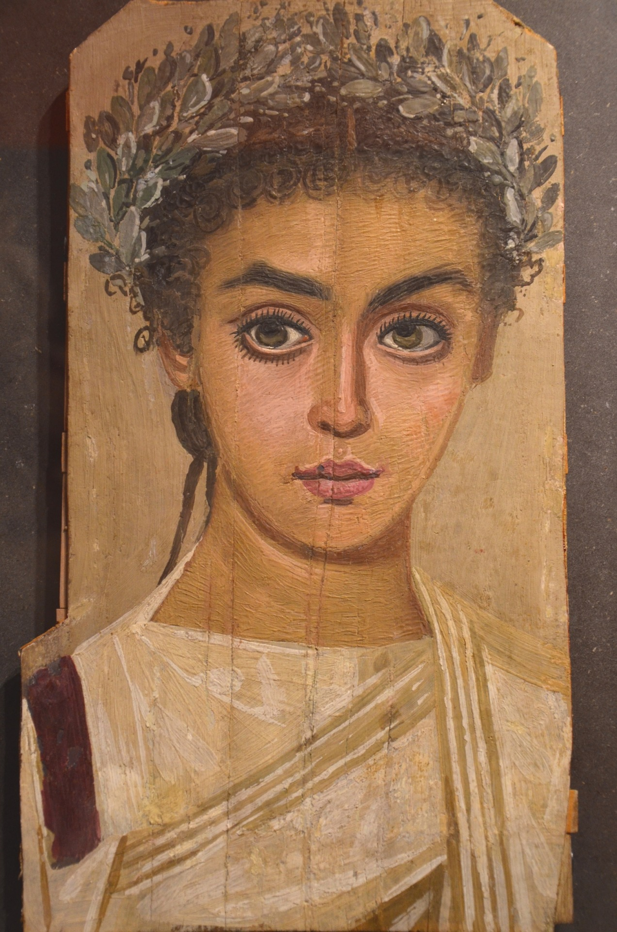 Romano-Egyptian mummy portrait of a girl , early second century AD (courtesy Liebieghaus, Frankfurt am Main).