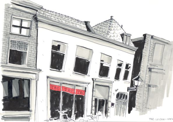 Drawing of the TRC premises along the Hogewoerd in Leiden.