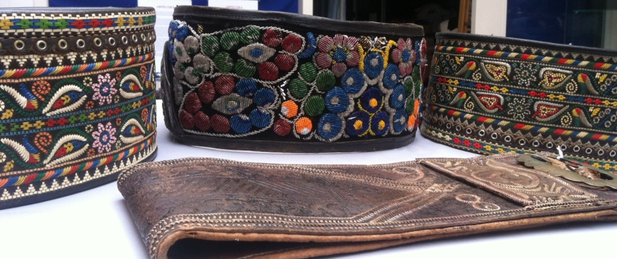 Four traditional men's belts from Romania. TRC collection.