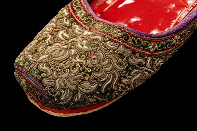 Detail of a Vietnamese shoe, early 20th century. Copyright Joost Kolkman. TRC Collection.